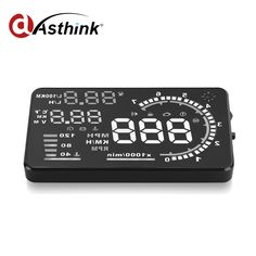 Universal A8 5.5 inch Car HUD Head Up Display OBD II 2 Speed Warning System Fuel Consumpt Warning Car Styling Free Shipping