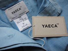 YAECA Tag Design, Label Design, Branding Design, Graphic Design, Denim Branding, Fashion Branding, Fabric Labels, Clothing Labels, Hang Tags