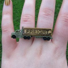 Big Truck Double Ring by sugarberries11 on Etsy, $8.00