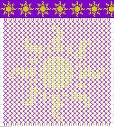 Friendship Bracelet Patterns - Disney Tangled Sun #45528