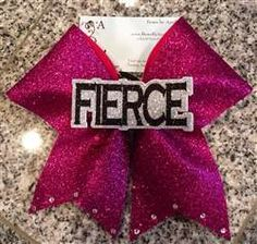 Fierce Center Graphic Cheer Bow