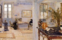 In the Room-1899 by Edouard Vuillard