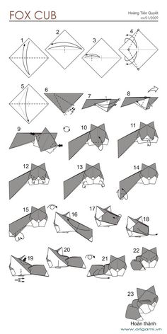 - Beauteous Origami Fox Instructions : Best Origami Fox Ideas On Origami Renard Origami Fox Puppet Instructions Origami Instructions Fox Face Origami Design, Origami Fox, Instruções Origami, Origami Star Box, Origami And Kirigami, Origami Ball, Paper Crafts Origami, Useful Origami, Origami Stars