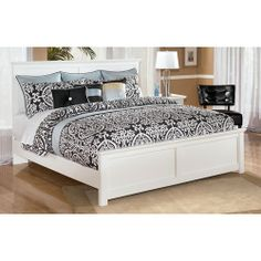 Signature Design by Ashley Bostwick Shoals King Solid Color Cottage Panel Bed - Becker Furniture World - Headboard & Footboard Twin Cities, Minneapolis, St. Paul, Minnesota