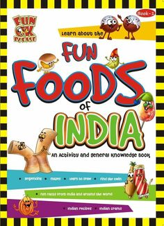 Help your kids discover and learn about all the Fun Foods of India like Gola, Khandvi, Pav Bhaji, Bhutta, Samosas and many more. They can make interesting craft items like the Dosa Greeting Scroll, Jalebi Gift Tag, Vada Pav Hand Puppet and more.