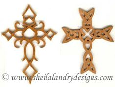 SLDK106 - 8 Celtic and Gothic Cross Ornaments