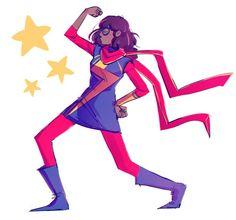 Kamala flexes fanart by tanakas Ms Marvel Captain Marvel, Marvel Fan Art, Marvel Heroes, Marvel Characters, Marvel Movies, Marvel Avengers, Dc Comics Women, Marvel Dc Comics, Ms Marvel Cosplay