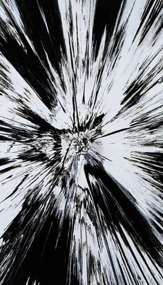 Damien Hirst | Beautiful, Black and White Shattered Inside my Head Forever Painting, 2008