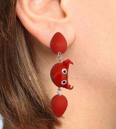 Handmade Clay Animals Stud Earrings