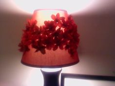 """""""Crimson Dyed"""" decorated lampshade"""