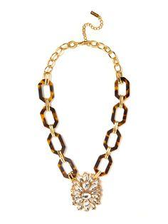 Tortoise byzantine crystal pendant $38