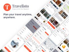 Introducing Travelisto a UI Kit for Sketch with over 22 iOS app screens designed in vector format, based on symbols. 😎 GET IT FOR FREE Free for personal use. Pay whatever you want to show the sup...