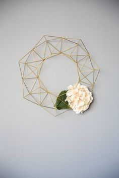 Your place to buy and sell all things handmade Modern Wreath, Entry Wall, Xmas Wreaths, Paper Flowers Diy, Plant Holders, Modern Industrial, Air Plants, Plant Hanger, Diy Art