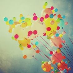 Balloons photo, colourful carnival summer fun, smiles, sunshine, nursery art,  home decor 8x8 fine art  print. Buy one get one free sale