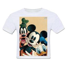 camiseta infantil moda criança disney personagens mickey mouse pato donald pateta  vintage