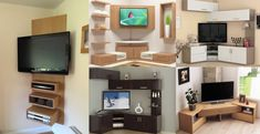 Tv Stand Modern Design, Tv Stand Designs, Corner Tv Stands, Corner Tv Unit, Online Architecture, Architecture Magazines, Amazing Architecture, Wall Unit Designs, Corner Designs
