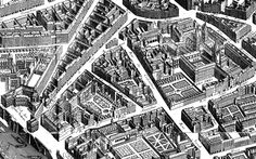 Free coloring page coloring-map-paris-neighborhood-1739. Adult difficult coloring page made from a plane section of a Paris neighborhood, dating from 1739. Many details to color one by one #coloring #pages #adults #book #drawing #zen #relaxing #city #paris
