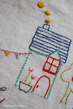 Such a pretty little house from Cinderberry Stitches