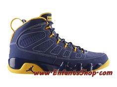new styles cb748 ead22 Air Jordan 9 Retro Chaussures Jordan Basket Pas Cher Pour Homme Bleu 302370- 445