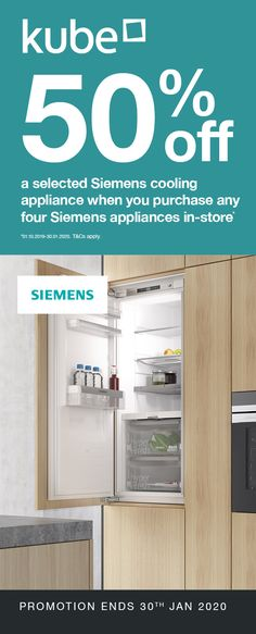 Up to off a selected Siemens cooling appliance when you purchase any four Siemens appliances with Kube. Food Fresh, Art And Technology, State Art, Bathroom Medicine Cabinet, Tiny House, The Selection, Innovation, Promotion