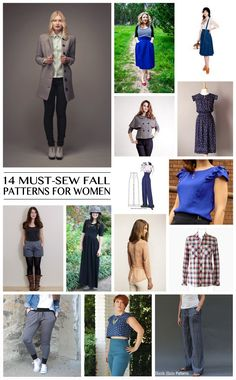 14 Must-Sew Fall Patterns for Women - eek! In love with some of these!