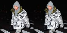cool Rihanna's Camo Vetements (and a Diamond Anklet) Wins Best Dressed of the Week  www.elle.com/...... Celebrity Style Check more at http://pinfashion.top/pin/64282/