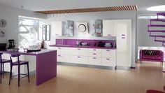 imagenes de cocinas integrales modernas | Cocinas modernas coloridas Scavolini