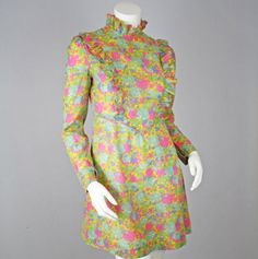Dollyrockers Liberty of London Vintage Rare Floral Ruffle Mini Dress