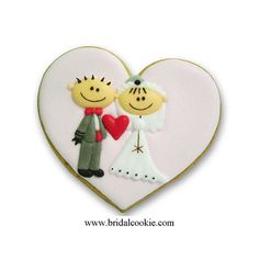 tanti Wedding Cookies:  'Divertente sposa e sposo' wedding cookies favore