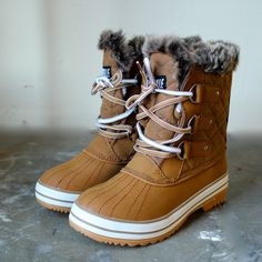 tan fur snow boots from shophearts
