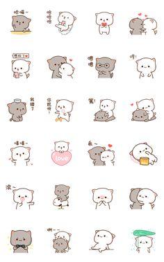 Cute Small Drawings, Cute Cartoon Drawings, Cute Kawaii Drawings, Easy Drawings, Cute Doodle Art, Cute Doodles, Kawaii Doodles, Chibi Cat, Cute Chibi