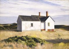 """Ryder's House,"" Edward Hopper, 1933, oil on canvas, 36 1/8 x 50"", Smithsonian American Art Museum."