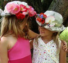 18a486217b4e0 Sombreros de papel para fiestas Sombreros Reciclados
