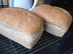 Easy to make half-and-half loaves. 50% White flour and 50% wholemeal flour; healthy and delicious! http://howibake.wordpress.com/2014/07/22/half-and-half/