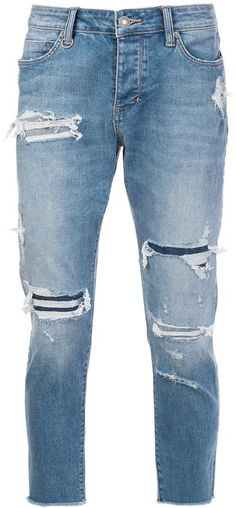Revive your repertoire with one of the cropped jeans at Farfetch. Browse a diverse array of men's cropped jeans from top labels now. American Rag, Cropped Jeans, Distressed Jeans, Skinny Jeans, Denim, Stylish, Boutiques, Pants, Shopping