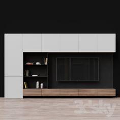 Living Room Tv Cabinet, Living Room Wall Units, Ikea Living Room, Living Rooms, Tv Cabinet Design, Tv Wall Design, Modern Tv Room, Living Room Modern, Modern Tv Wall