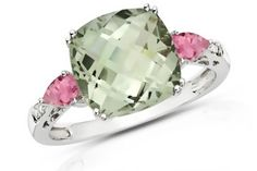 Fan favorite is back in stock! Green Amethyst & Pink Topaz ring.