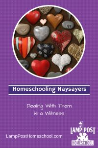 How Do You Deal With Homeschooling Naysayers? #HeartIssues