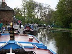 Cowley Lock on the Grand Union Canal, Near Uxbridge UB8. West Drayton Station.