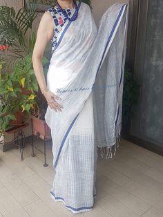 Ideas For Travel Outfit India Beautiful Saree Jacket Designs, Blouse Designs, Online Saree Purchase, Cotton Saree Designs, Modern Saree, South Indian Sarees, Stylish Sarees, Casual Saree, Elegant Saree