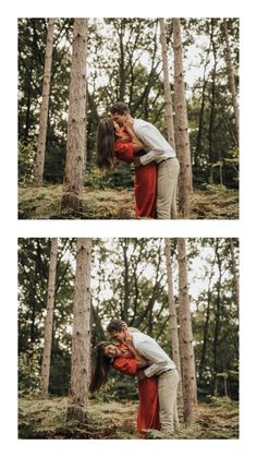 Sunrise woodsy engagement photos - engagement photo outfits - lost in the Forrest Sunrise Engagement Photos, Engagement Photo Outfits, Wedding Picture Poses, Wedding Pictures, Couple Shoot, Photo S, Photoshoot, Woodland, Photo Ideas