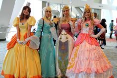 Princess Daisy, Princess Rosalina, Princess Zelda, and Princess Peach, photographed by PVN Photo