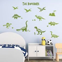 Decowall DWG603GN DInosaurs Graphic Peel and Stick Nursery Wall Decals Stickers ** You can get additional details at the image link. (This is an affiliate link and I receive a commission for the sales)