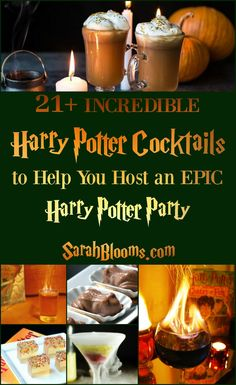 Throw an epic Harry Potter Party for your birthday, Halloween, Christmas, or another special occasion with these 21+ Harry Potter Cocktails you and your friends will love!