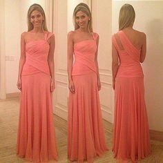 dress, coral dress, bridesmaid dress, chiffon dress, ruched dress, sleeveless dress, coral bridesmaid dress, hot dress, coral chiffon dress