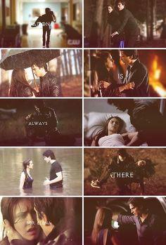 Damon está sempre lá para elena <3