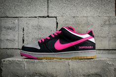 new products 81fa2 c2963 New Arrival Nike Dunk Low Premium SB QS Disposable Black Noir Pink Grey  Youth Big Boys Shoes