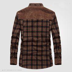 Men's Fleece Shirt Thicken Warm Plaid Plus Size Long Sleeve Casual Cotton for Winter Casual Shirts For Men, Men Casual, Winter Shirts, Mens Fleece, S Shirt, Active Wear For Women, Long Sleeve Shirts, Plaid, Warm