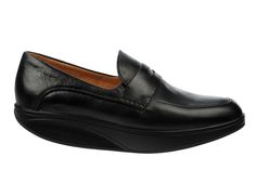 Men's Asante 5s Black : Full grain leather uppers finished with a full grain leather and textile footbed, our signature MBT ® patented rocker sole and non-marking outsole. Available in Black, Toffee or Spruce Yellow.