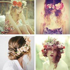 Blumenkränze ♥ stylefruits Inspiration ♥ #Frisur #Flechten #Haare